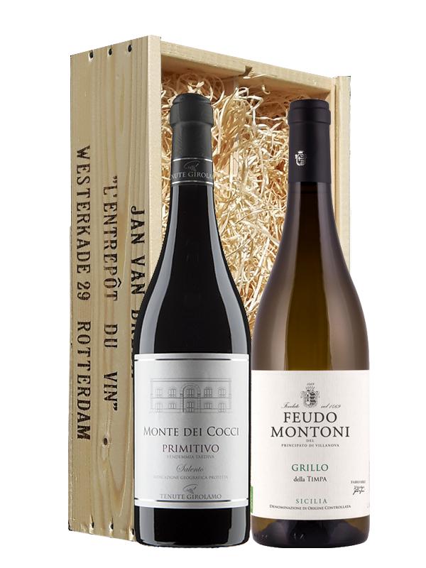Wijngeschenk Italië Puglia & Sicilië
