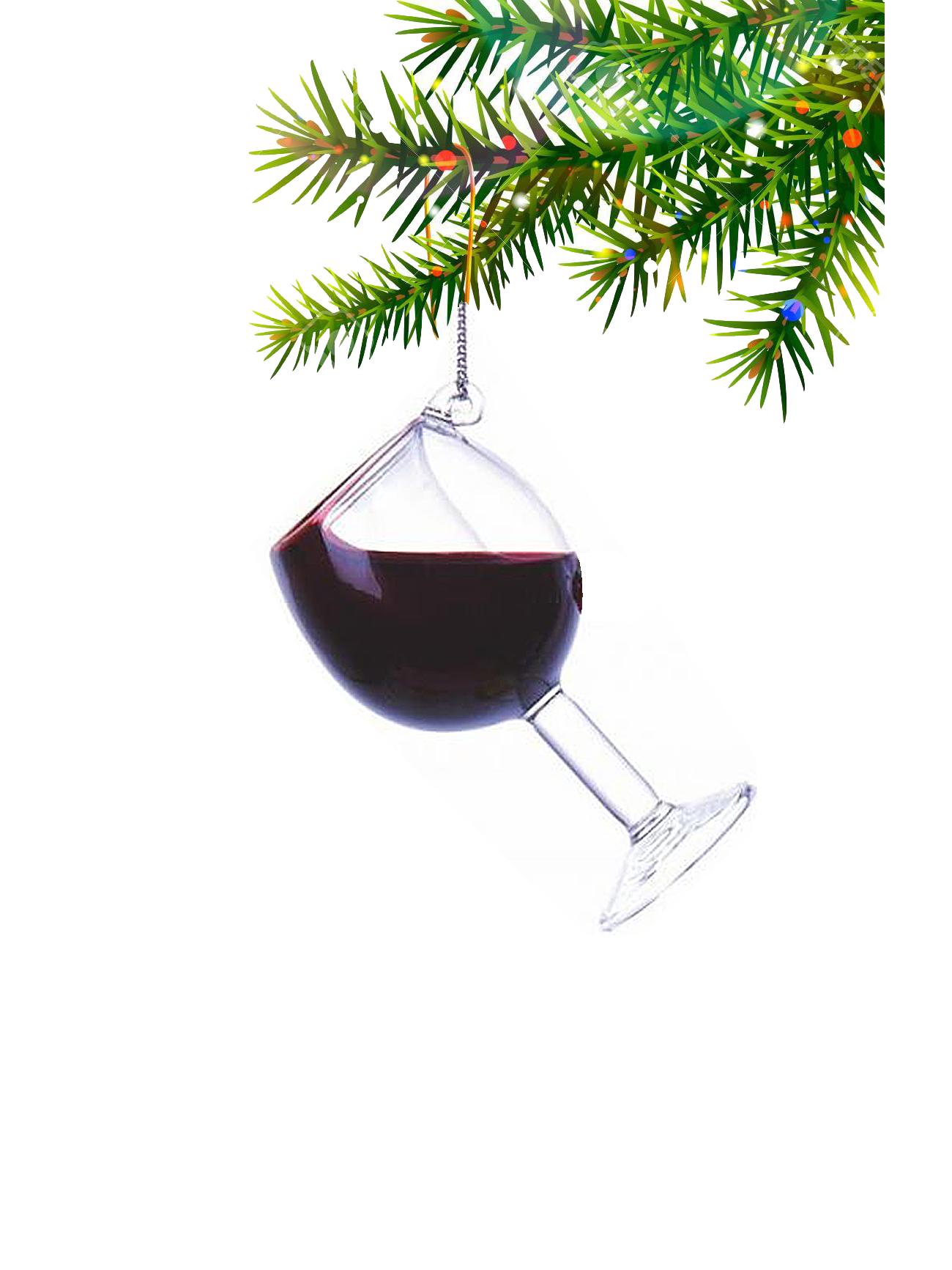 Wijnglas Rood Kerstbal Kurt Adler