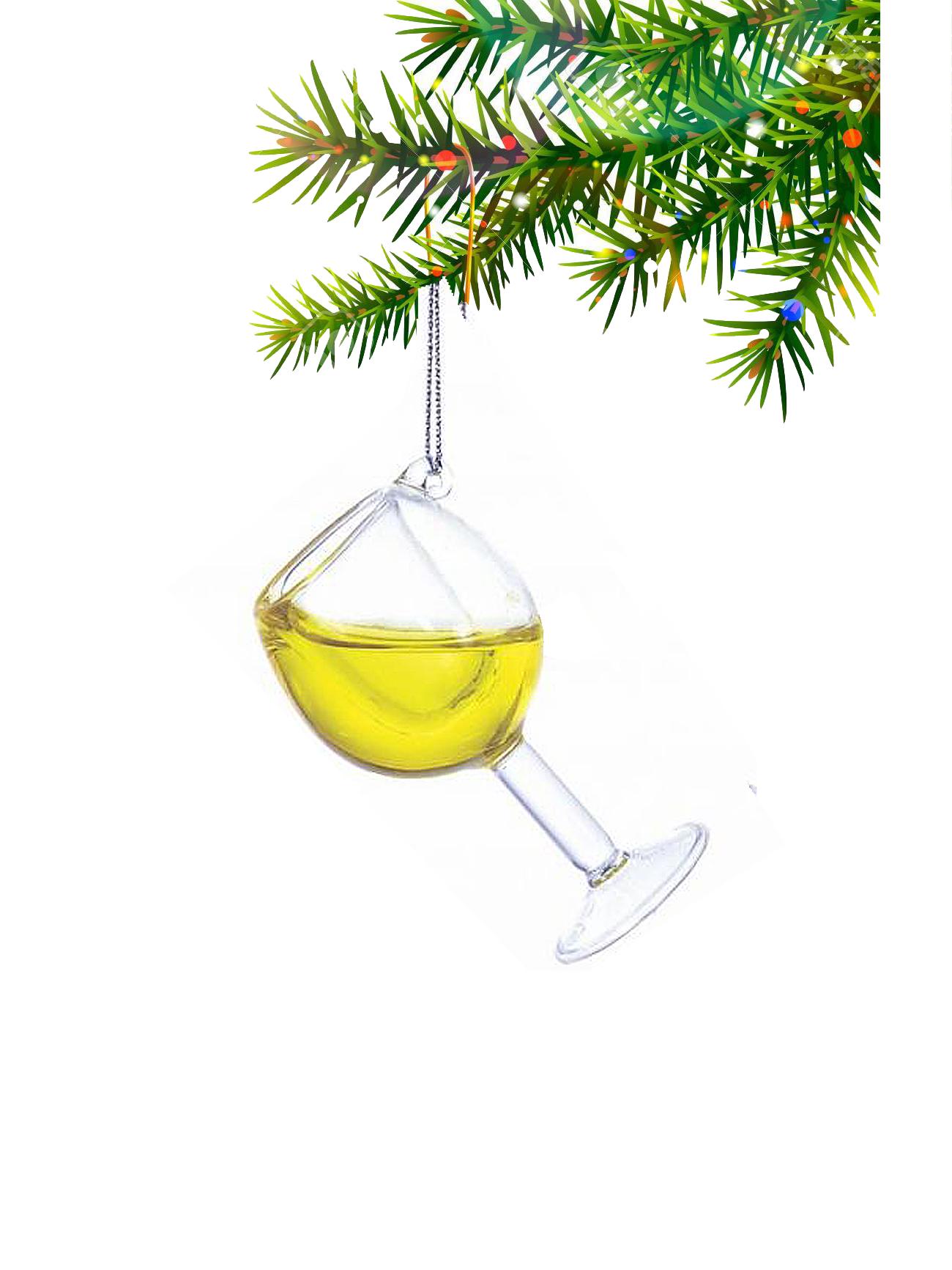 Wijnglas Wit Kerstbal Kurt Adler